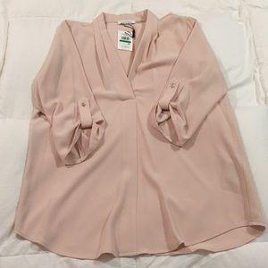 Calvin Klein blouse size L.  Cream w/gold buttons.